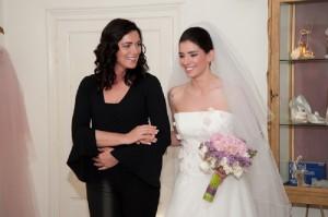prove di nozze in abito da sposa