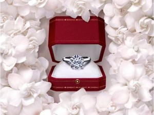solitario di diamante per la dichiarazione di matrimonio