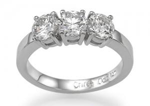 anello fidanzamento trilogi diamanti